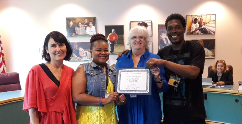 Board Chair Mary Botkin Presents Appreciation Certificate to STARS