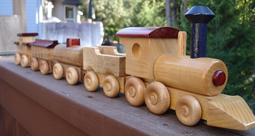 Wooden Train by Marc Staino