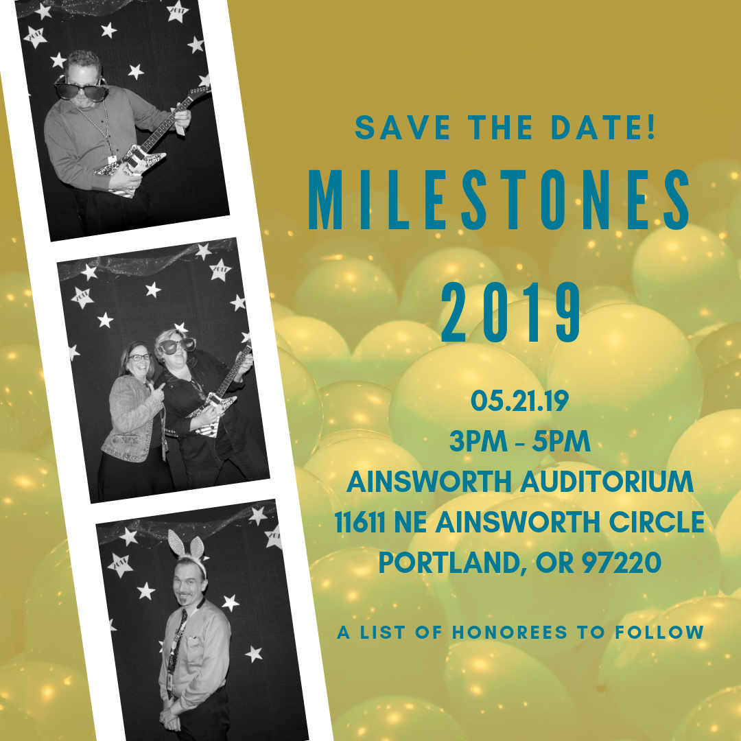 Milestones Save the Date Poster