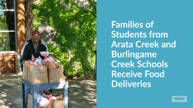 Families of Students from Arata Creek and Burlingame Creek Schools Receive Food Deliveries