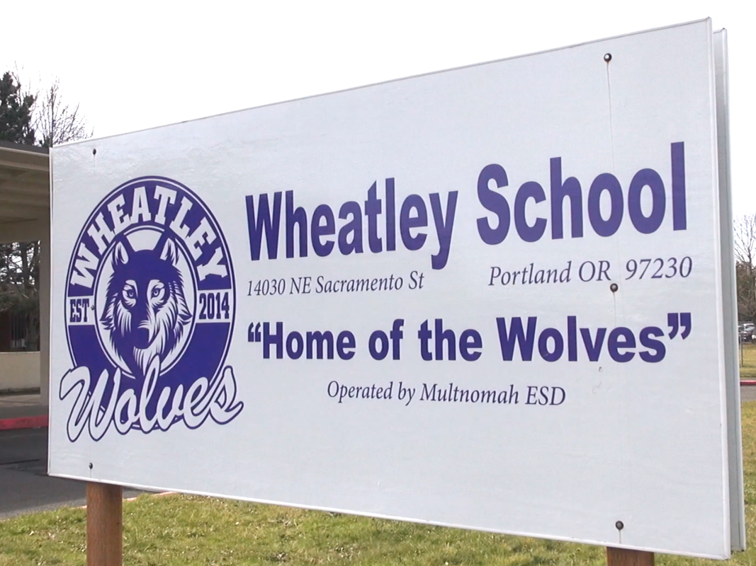 Wheatley School sign